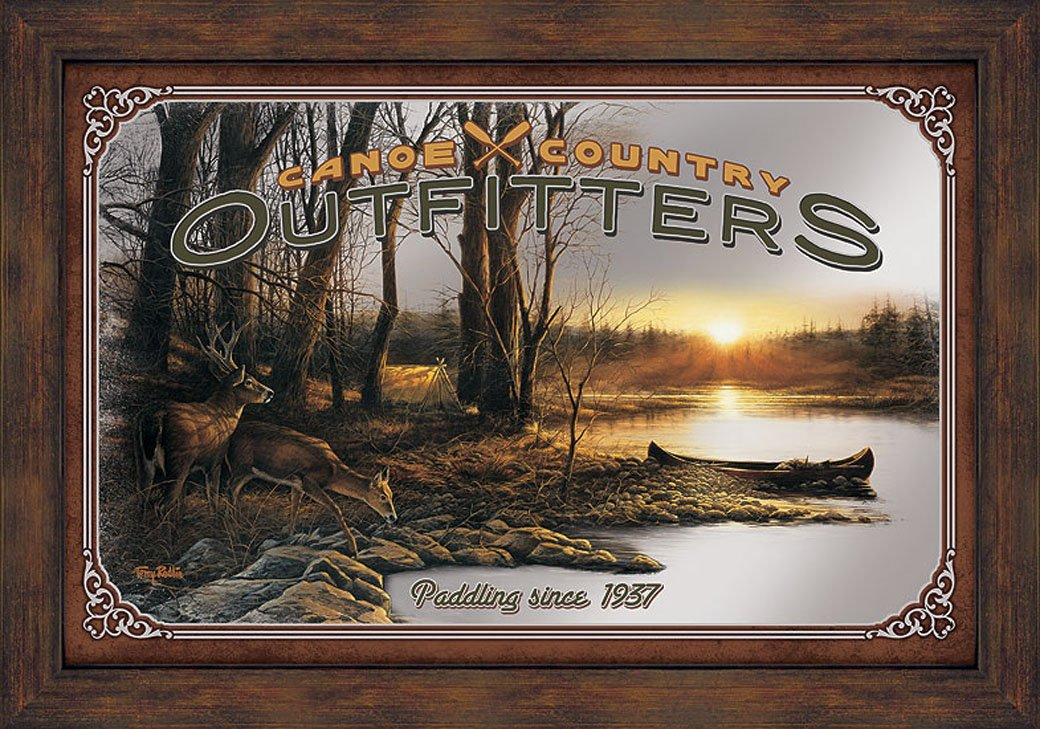 Canoe Country Outfitters Advertising Mirror by Terry Redlin