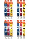 Go Inks C / M / Y Ensemble de 3 cartouches d'encre pour remplacer Canon CLI-551 Compatible, non-OEM pour imprimantes PIXMA, Lot de 4 (12 unités)