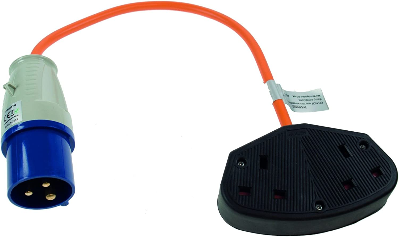230V UK Twin Trailing Socket UK Plug