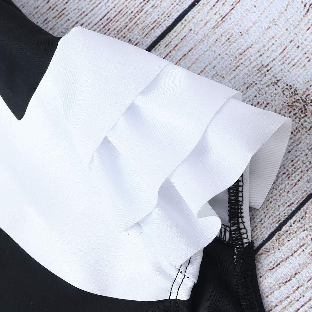 KASSD Ruffle Swimsuit for Girls Baby Kids Girl Ruffles Swan Swimwear Beach Bathing Clothes