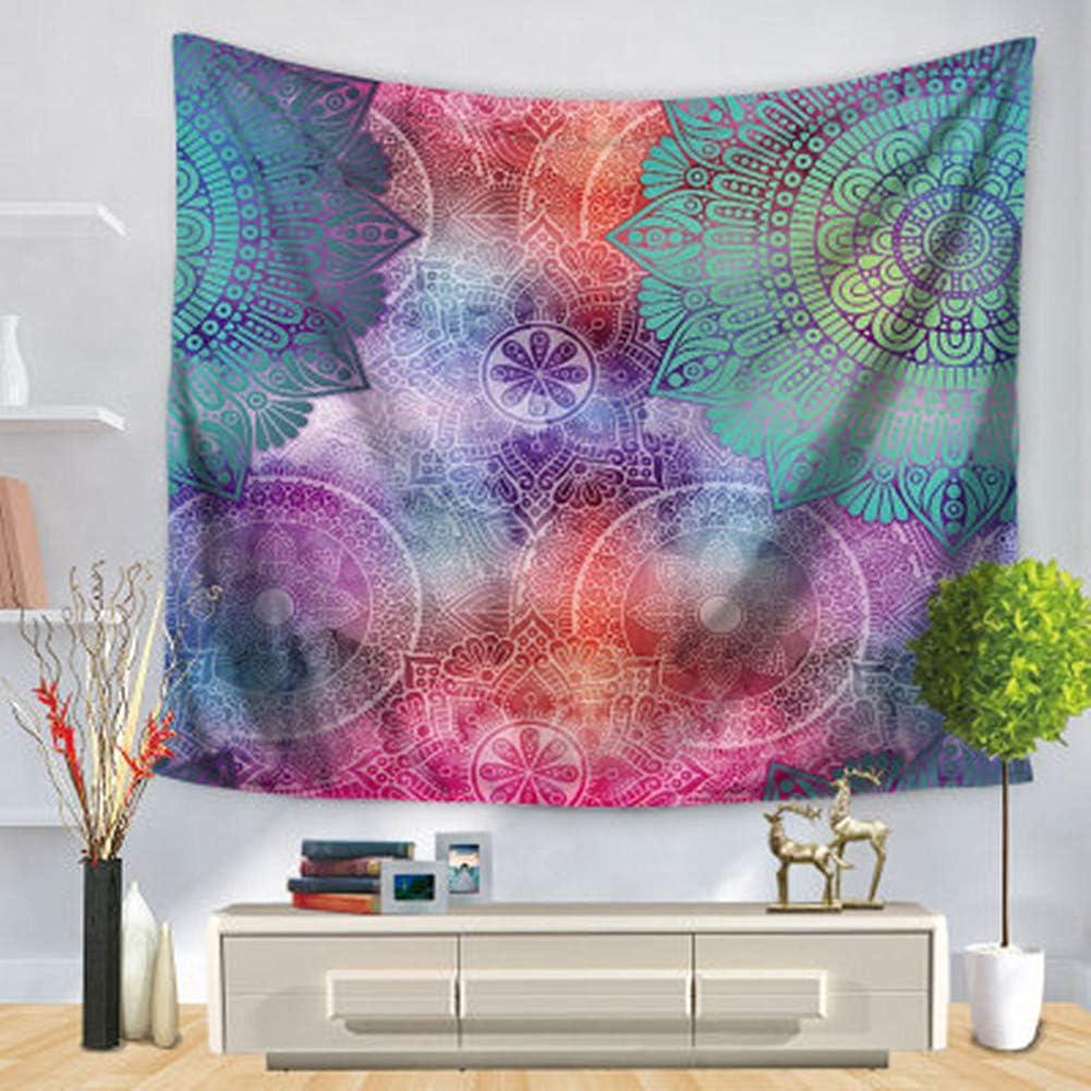 DOTBUY Mandala Flower Tapestry Wall Hangings Indian Hippie Mandala Flower Printed Tapestry Wall Hanging Boho Bedspread Beach Towel Dorm Decor Small 130 x 150cm , Khaki