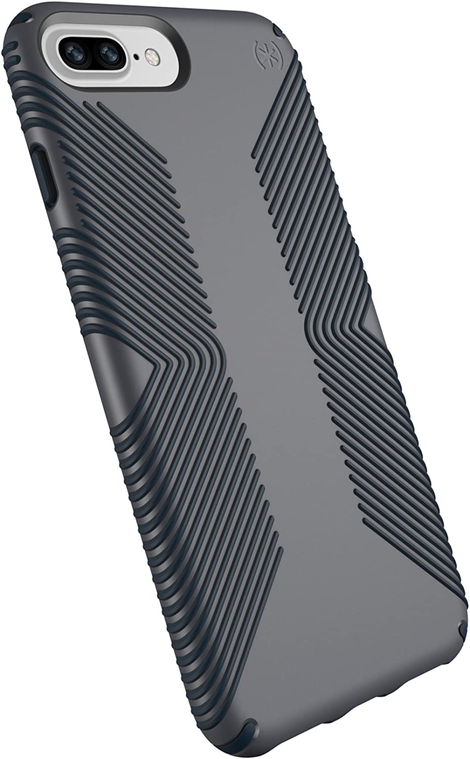 Speck Products Presidio Grip Case for iPhone 8 Plus (Also fits 7 Plus and 6S Plus/6 Plus), Graphite Grey/Charcoal Grey