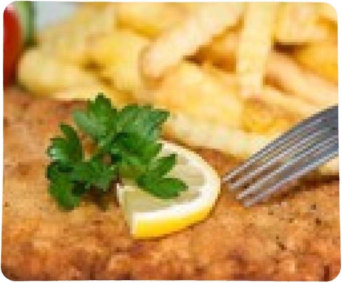 alfombrilla de ratón Schnitzel con las patatas fritas: Amazon ...