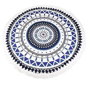 sealands Mandala redondas Toallas de playa tapiz hippie boho Gypsy algodón toalla de playa - Esterilla de yoga (Sun flor): Amazon.es: Hogar