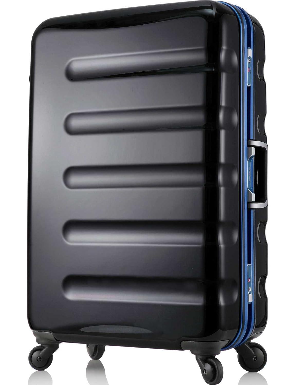 【レジェンドウォーカー】LEGEND WALKER スーツケース アルミフレーム 鏡面ボディ TSAロック 軽量 機内持込~大型 B01LXIT2E5  ブラックブルー SSサイズ-47cm(1~3日)