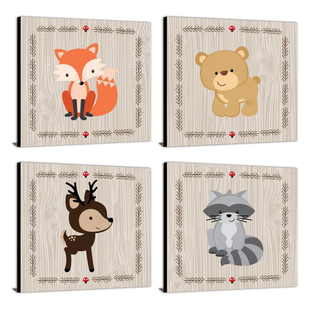Woodland Creatures Nursery Decor Nursery Wall Art Decorative Christmas Gift Set