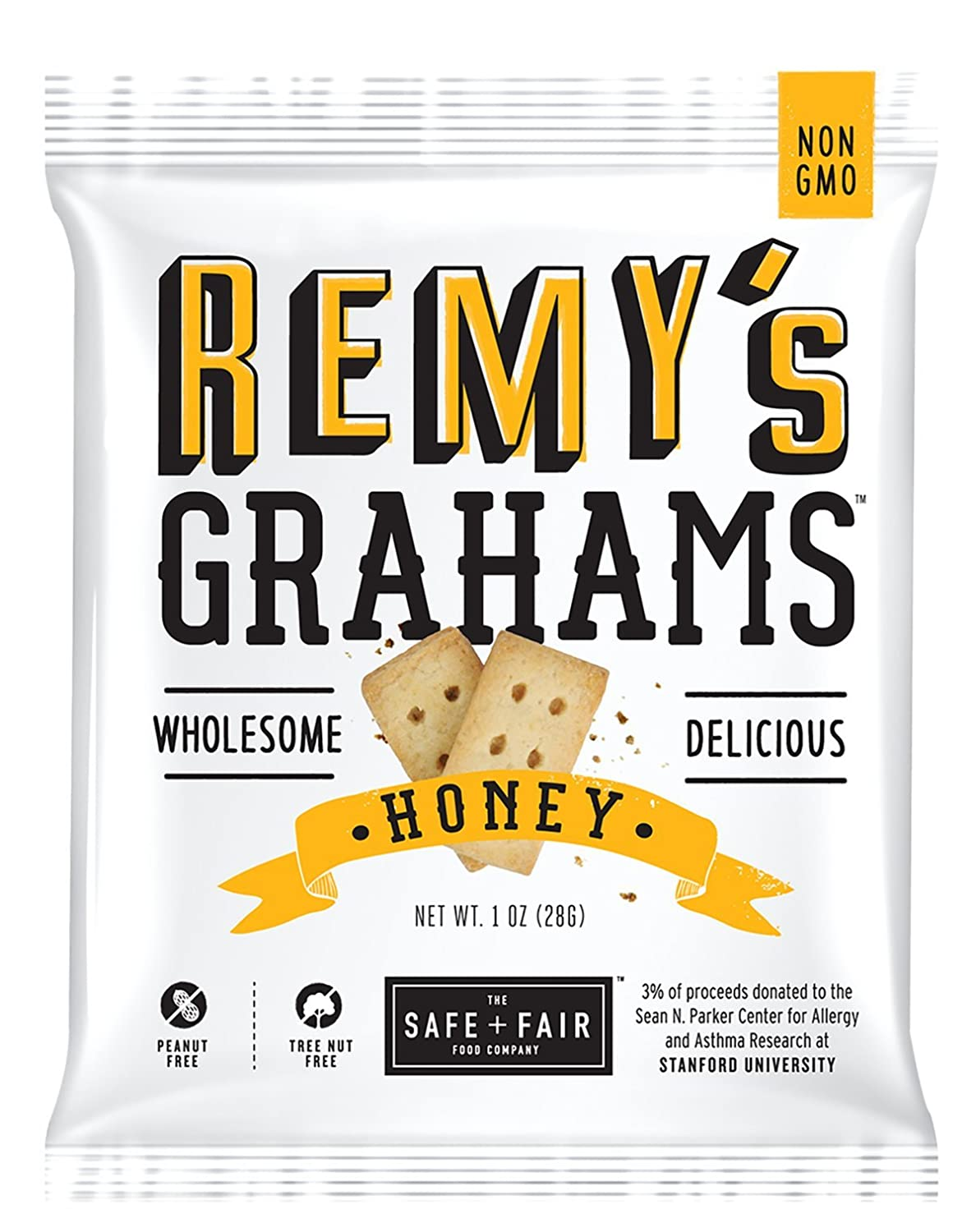 The Safe + Fair Food Company Remy's Grahams, Honey, 36 Count