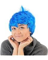Joy Inside Out Blue Costume Wig