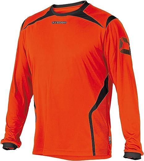 Stanno Torino Camiseta de Manga Larga de Color Naranja Negro (Shocking Naranja de Color Negro): Amazon.es: Deportes y aire libre