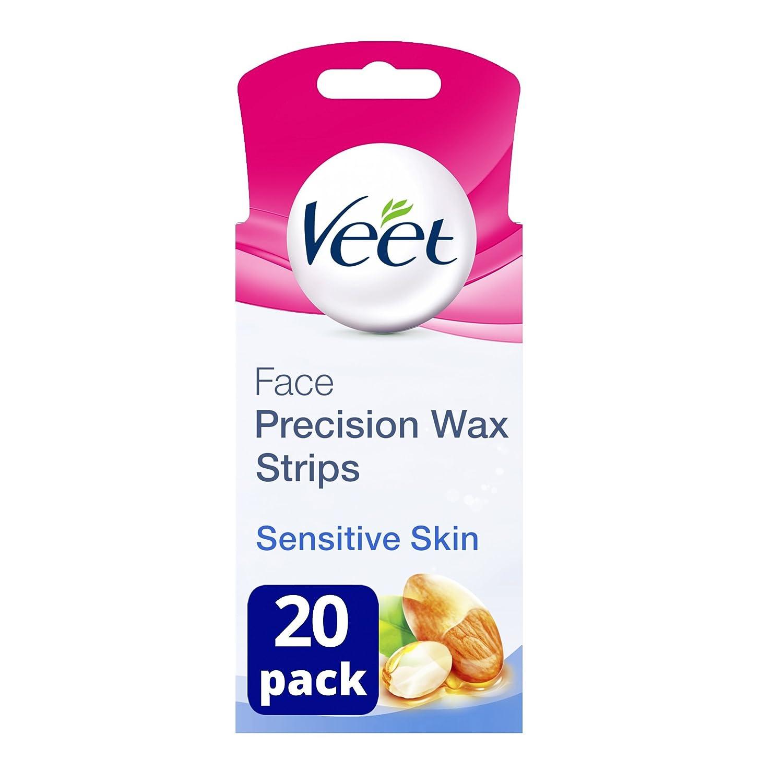 Veet Face Wax Strips para pieles sensibles, paquete de 20 105509891