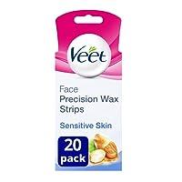 Veet Face Wax Strips for Sensitive Skin, Pack of 20