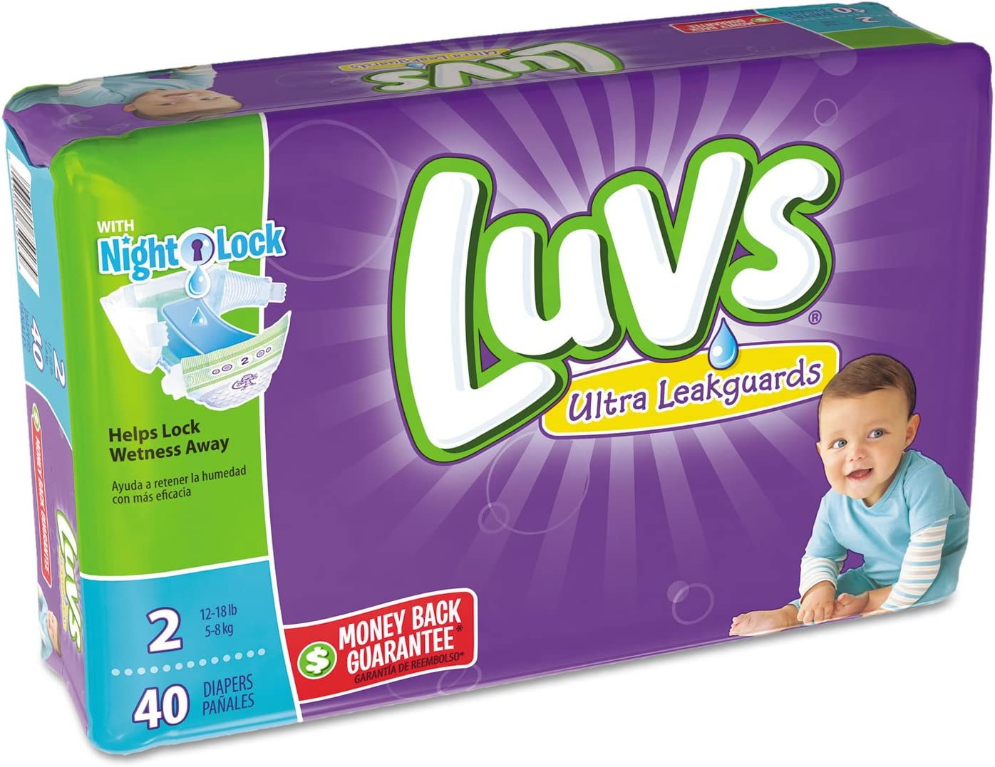 Luvs Newborn Ultra Leakguards Diapers 40 Count