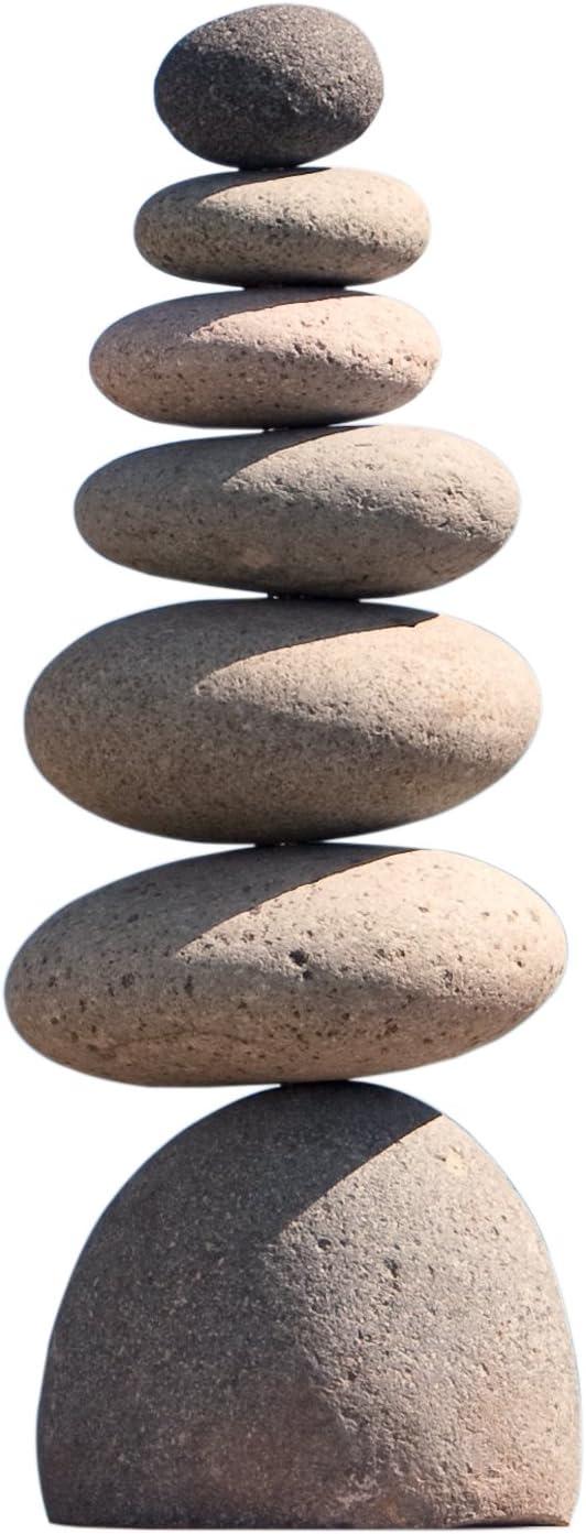 """Medium Giant Rock Cairn 22"""" Inspirational Zen Garden Pile Stones"""