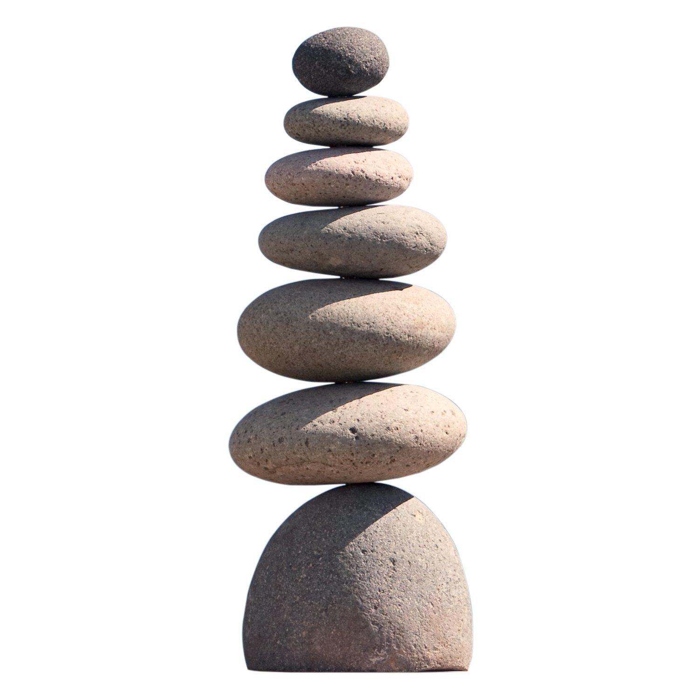 Medium Giant Rock Cairn 22'' Inspirational Zen Garden Pile Stones