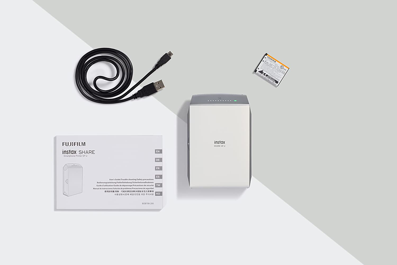 Fujifilm Instax Share SP-2 - Impresora para smartphone, Plata