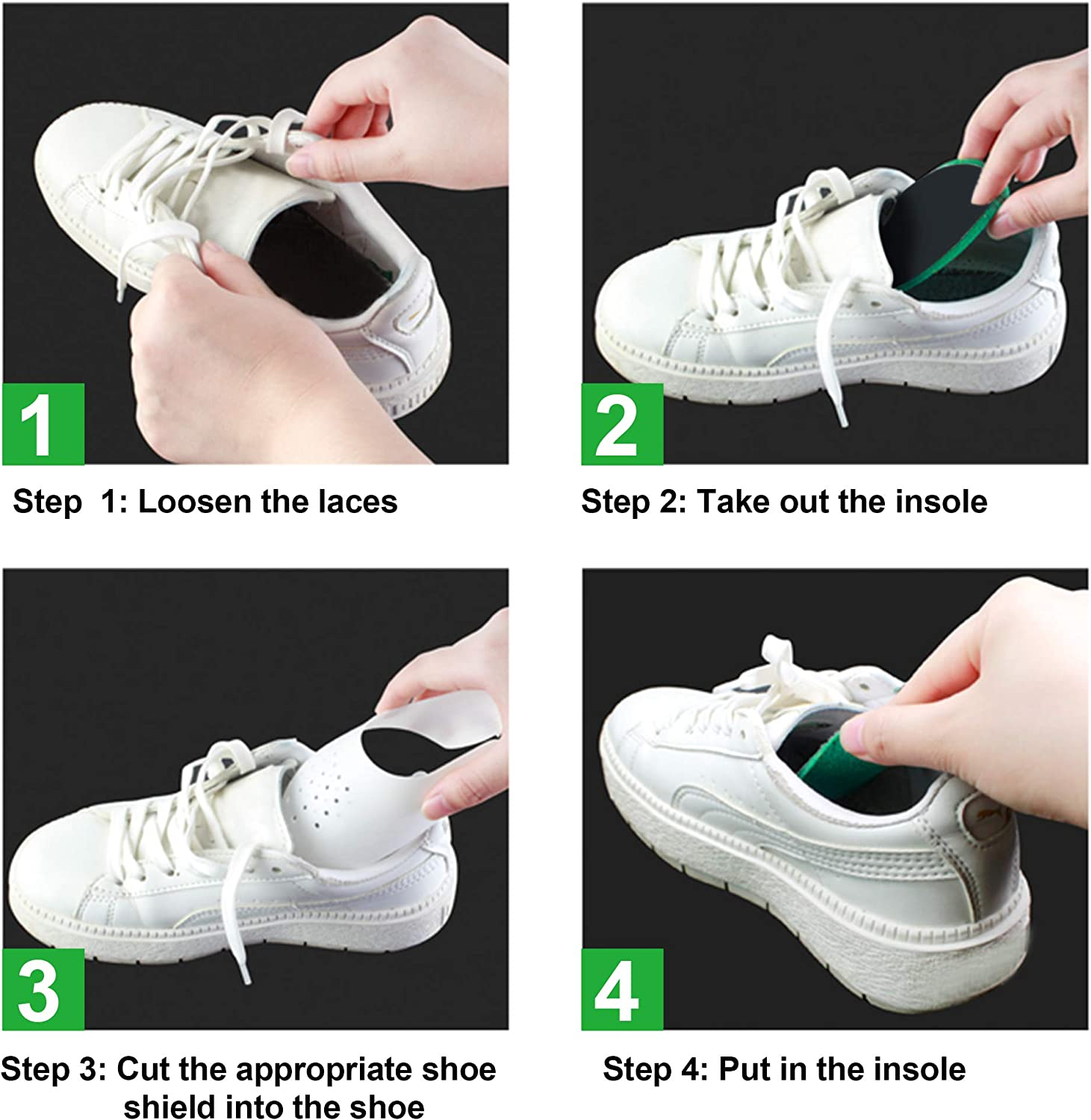 8 Pairs Anti-Wrinkle Shoes Shields