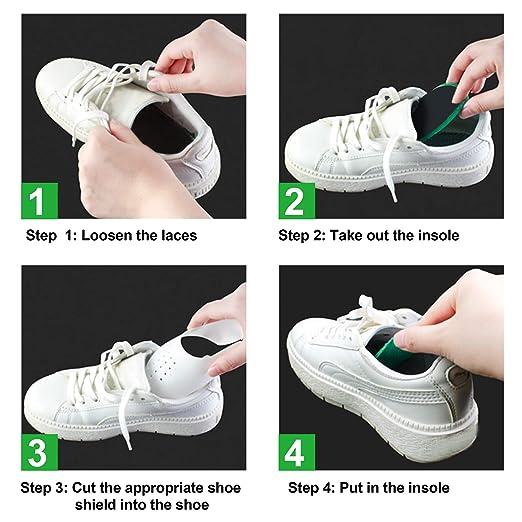 Anti-Falten Schutz Herren 7-12// Damen 5-8 Mudder 3 Paar Schuh Falten Schutz Zehe Box zur Reduzierung Gegen Schuhfalten