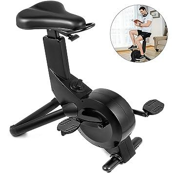 Happybuy - Bicicleta de ejercicio de altura ajustable, con control ...