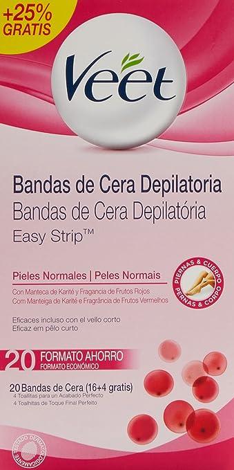 VEET BANDAS DE CERA DEPILATORIA PIELES NORMALES 16 + 4 GRATIS