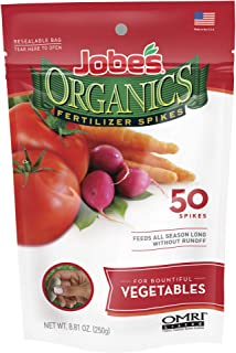 product image for Jobes 06028 Organics Vegetable Fertilizer Spikes 2-7-4 50 Pack