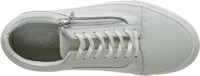 Vans Damen Old Skool Zip Sneaker, Blau (Leather Zephyr Blue