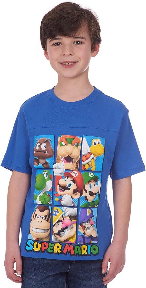 Childrens Kids Tee Shirt  SUPER MARIO BROTHERS quality black cotton Kids T Shirt