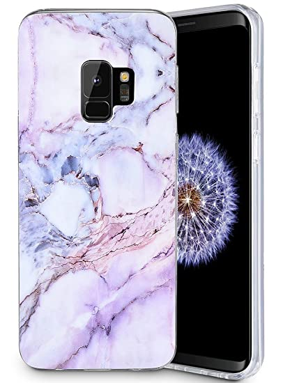 reputable site 345f0 257c9 Caka Galaxy S9 Case, Galaxy S9 Marble Case Slim Anti Scratch Shockproof  Luxury Fashion Silicone Soft Rubber TPU Protective Case for Samsung Galaxy  S9 ...