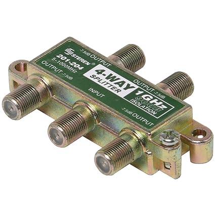 Amazon com: Steren 201-204 4-Way 1GHz 90dB RF Splitter: Home