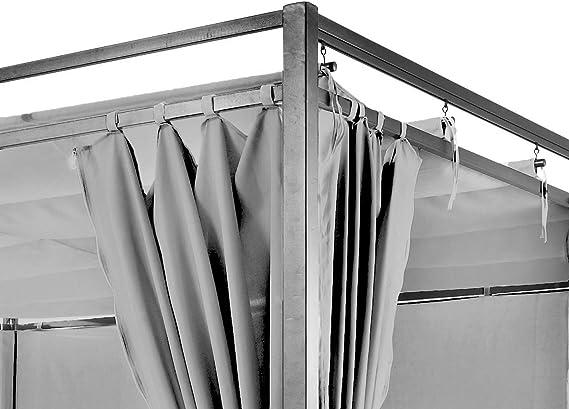 Tejado plano pergola Firenze 3 x 3 Meter gris con pared lateral ...