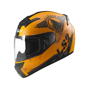 LS2 103523251L FF352 Casco Rookie Fan, Color Naranja Mate, Tamaño L