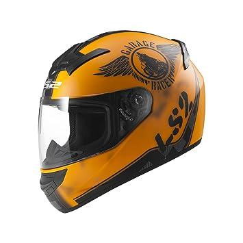LS2 103523251S FF352 Casco Rookie Fan, Color Naranja Mate, Tamaño S