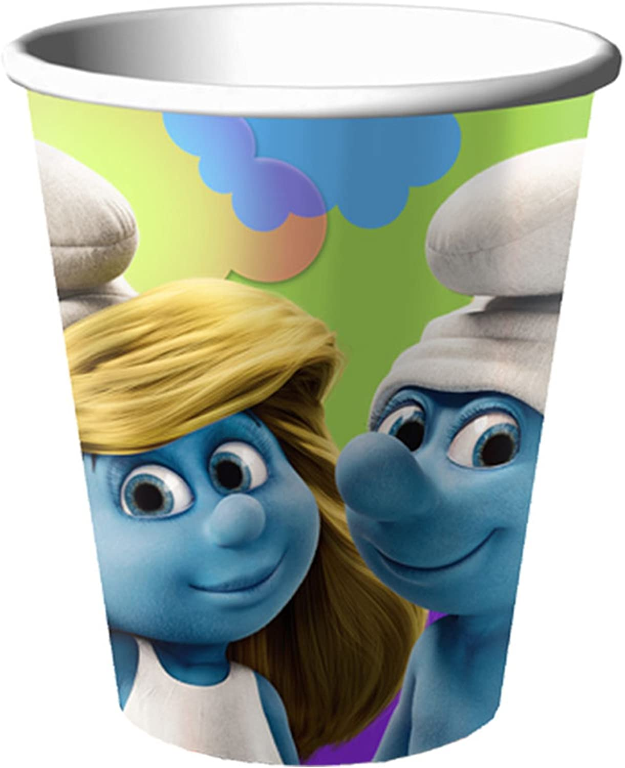 PAPER CUPS 9 oz ~THE SMURFS  ~~  8 PARTY  SUPPLIES