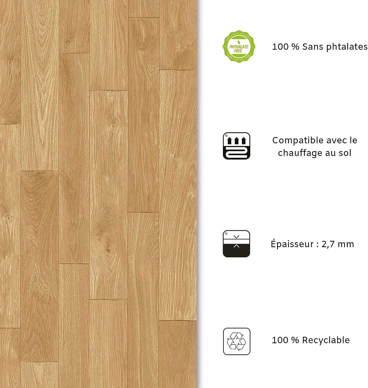 Film Vinyle Pour Meuble /& Sol Aspect Ch/êne Nature - 100x200 cm casa pura Rev/êtement Sol PVC Sol PVC Rouleau Antid/érapant /& 100/% /Écologique Stickers Effet Bois