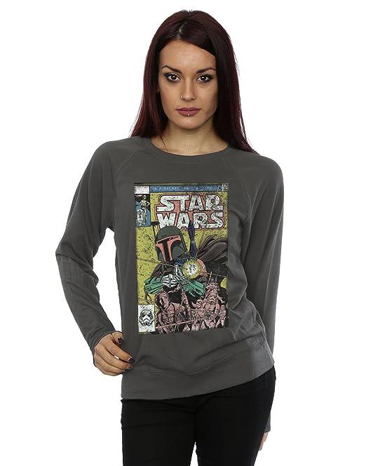 STAR WARS Mujer Boba Fett Comic Camisa de Entrenamiento: Amazon.es: Ropa y accesorios