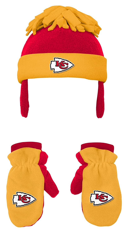 1c8993b6218 Amazon.com   NFL Toddler 2 Piece Winter Set Fleece Hat and Mittens -Aqua-1  Size