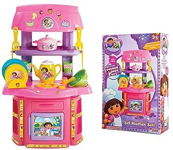 Toy Planet - Dora la exploradora mini cocina accesorios, talla pequeña