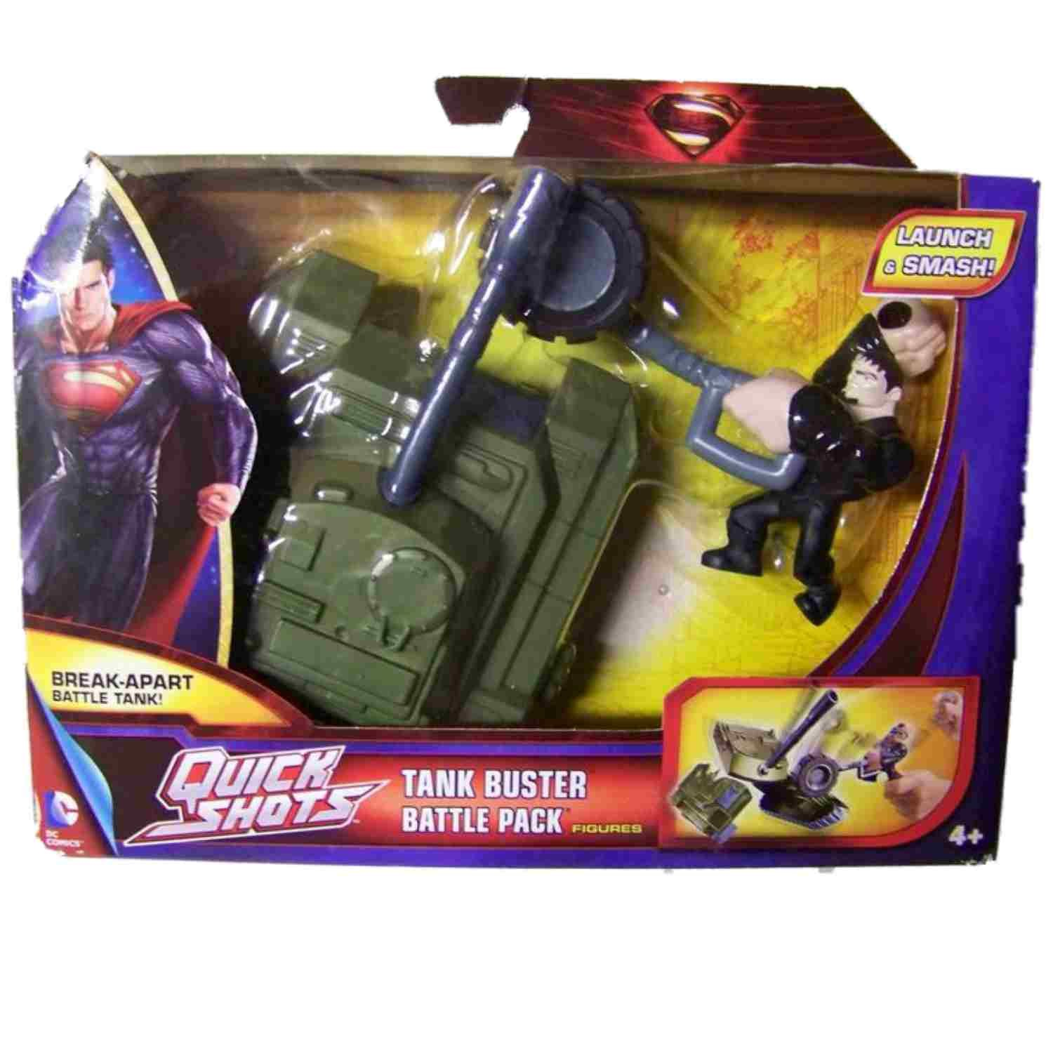 Superman Man of Steel Quick Shots Launch /& Attack Battle Pack 2013 for sale online