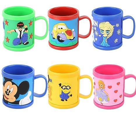 Asera 6 Pcs Kids Cartoon Mugs Cups For Birthday Return Gifts Amazonin Toys Games