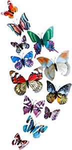 Aventk Butterfly Refrigerator magnet- Garden Butterfly- Fridge Magnets for Art Decoration, Wall Stickers Decoration, Crafts Home Party Decoration, DIY Projects. (Brightmoon Buttterfly Magnet)