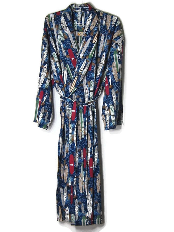 3XL Robes For Mens Big Blue Sleepwear