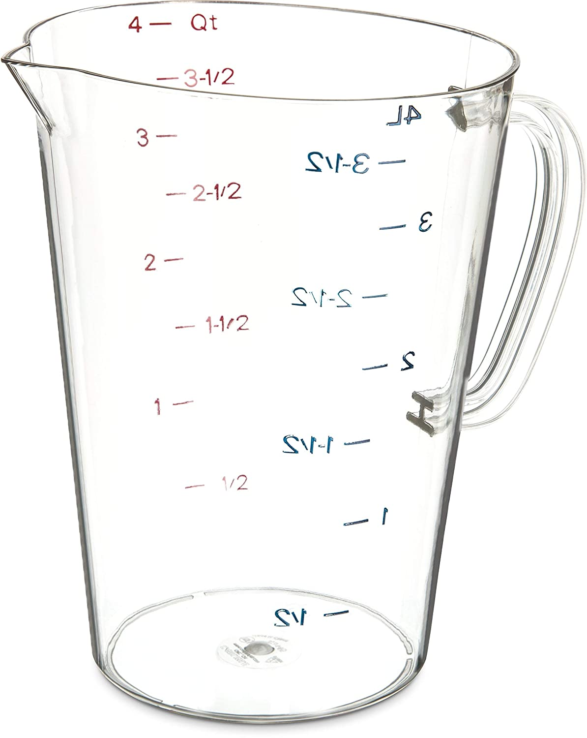 Amazon Com Plastic Measuring Cup 1 Gallon Clear 1 Pack Industrial Scientific