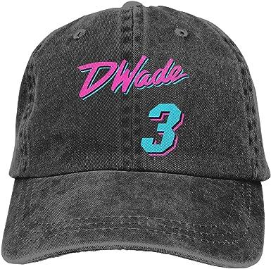 DeniCar Unisex Adjustable Baseball Caps #3 DWYNE D-Wade Skull Cap Black