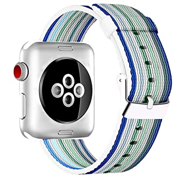 HILIMNY Para Correa Apple Watch 38MM, Hebilla de Acero Inoxidable iWatch Correa, para Series