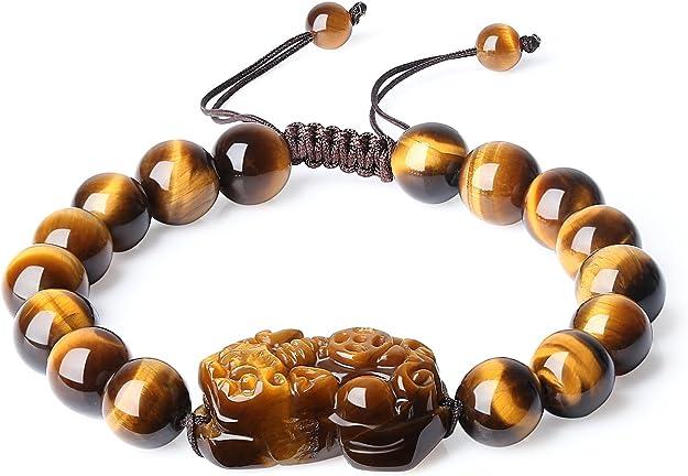 oeil de tigre feng shui neuf Taille 19 cm,unisexe Bracelet pierres noir