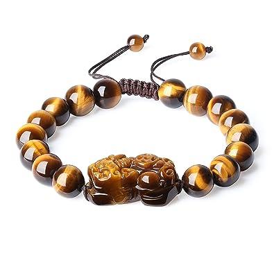 Tigre De Unisexe Chinois Œil Pixiu Ajustable Amulette Coai Bracelet BhxosrdQtC