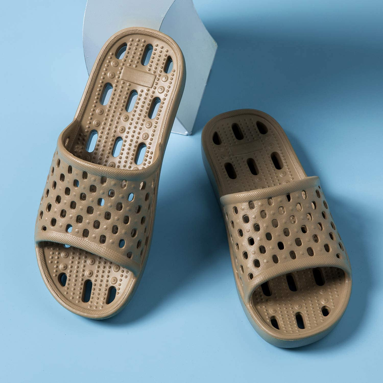 Ranberone Chaussures de Piscine et Plage Femme Chaussures pour la Douche Chaussons de Bain