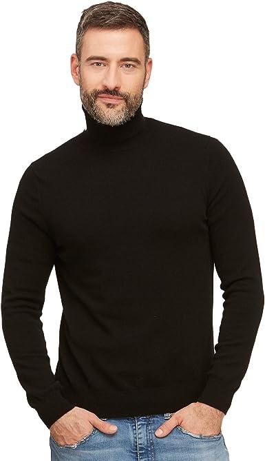 Belovecol Jersey de Punto con Cuello Alto y Cuello Alto para Hombre