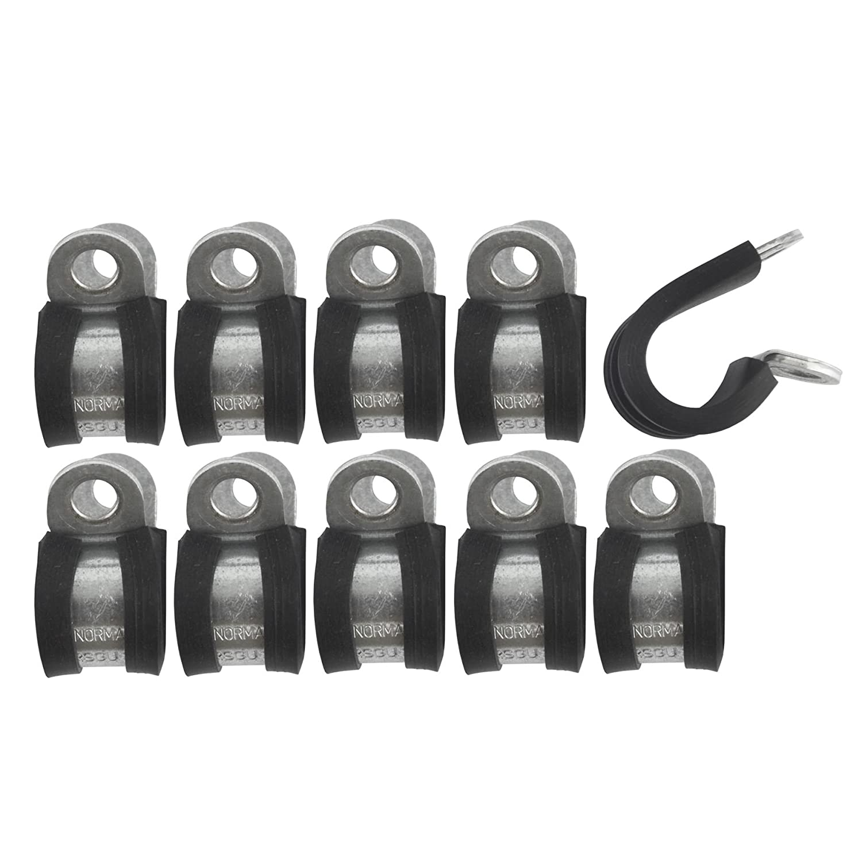 Graffe canalizzazione dei freni rivestito in gomma clip P 7/16' (11.1mm) linee 10PK AB Tools