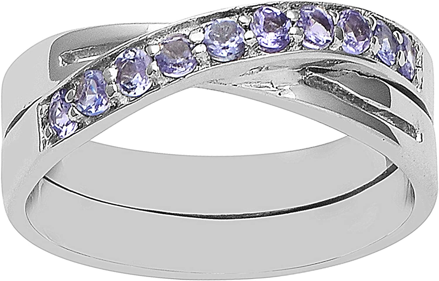 Micro Pave Ring ~ Choose Size 925 Sterling Silver Oval Tanzantie C.Z