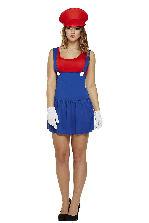 Party Central - Disfraz de Mario para mujer: Amazon.es: Juguetes y ...